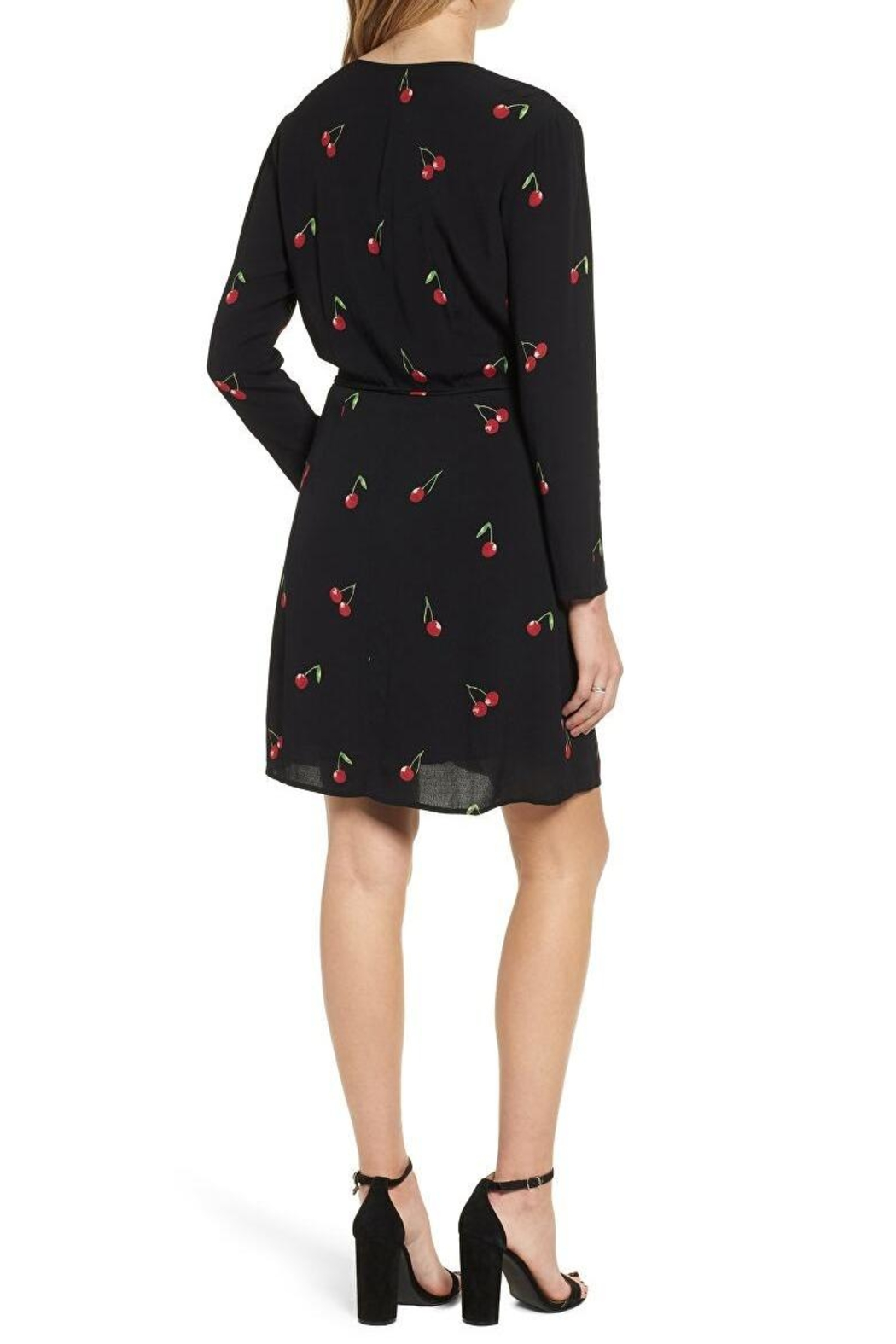 Rails Cherry Wrap Dress - Side Cropped Image