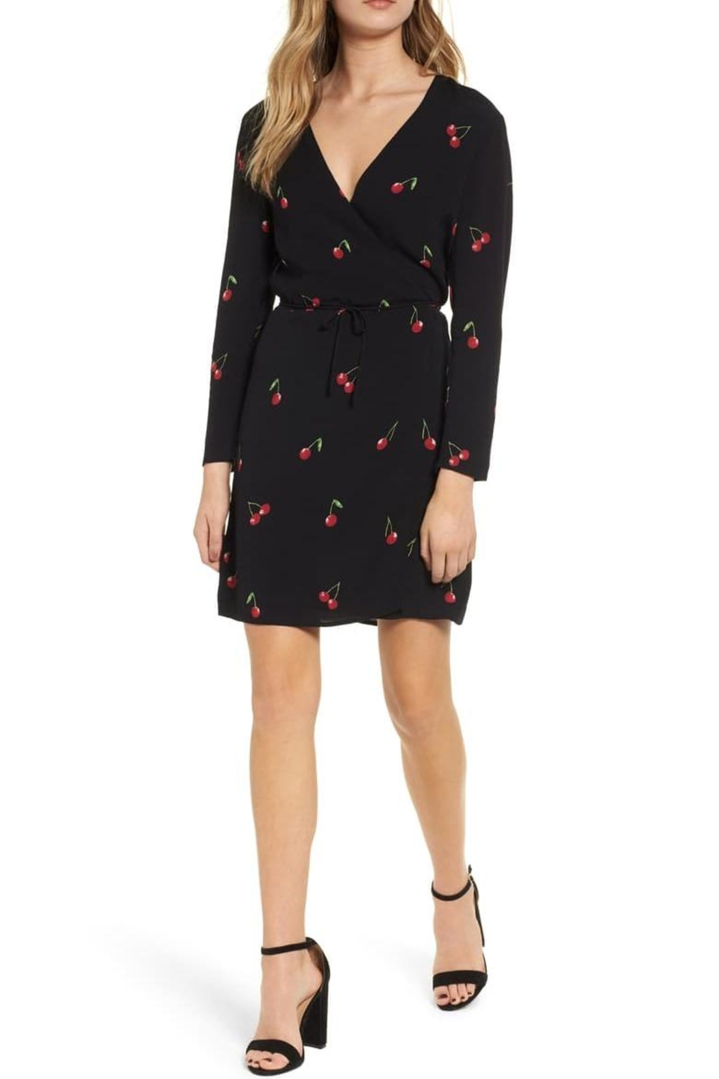 Rails Cherry Wrap Dress - Front Cropped Image