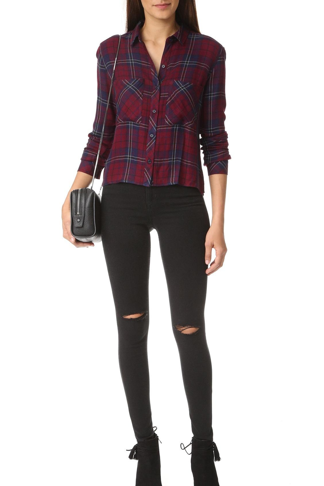 Rails Dylan Plaid Top - Front Full Image