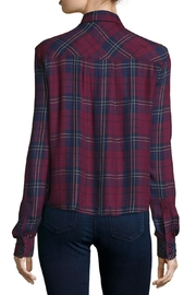 Rails Dylan Plaid Top - Back cropped