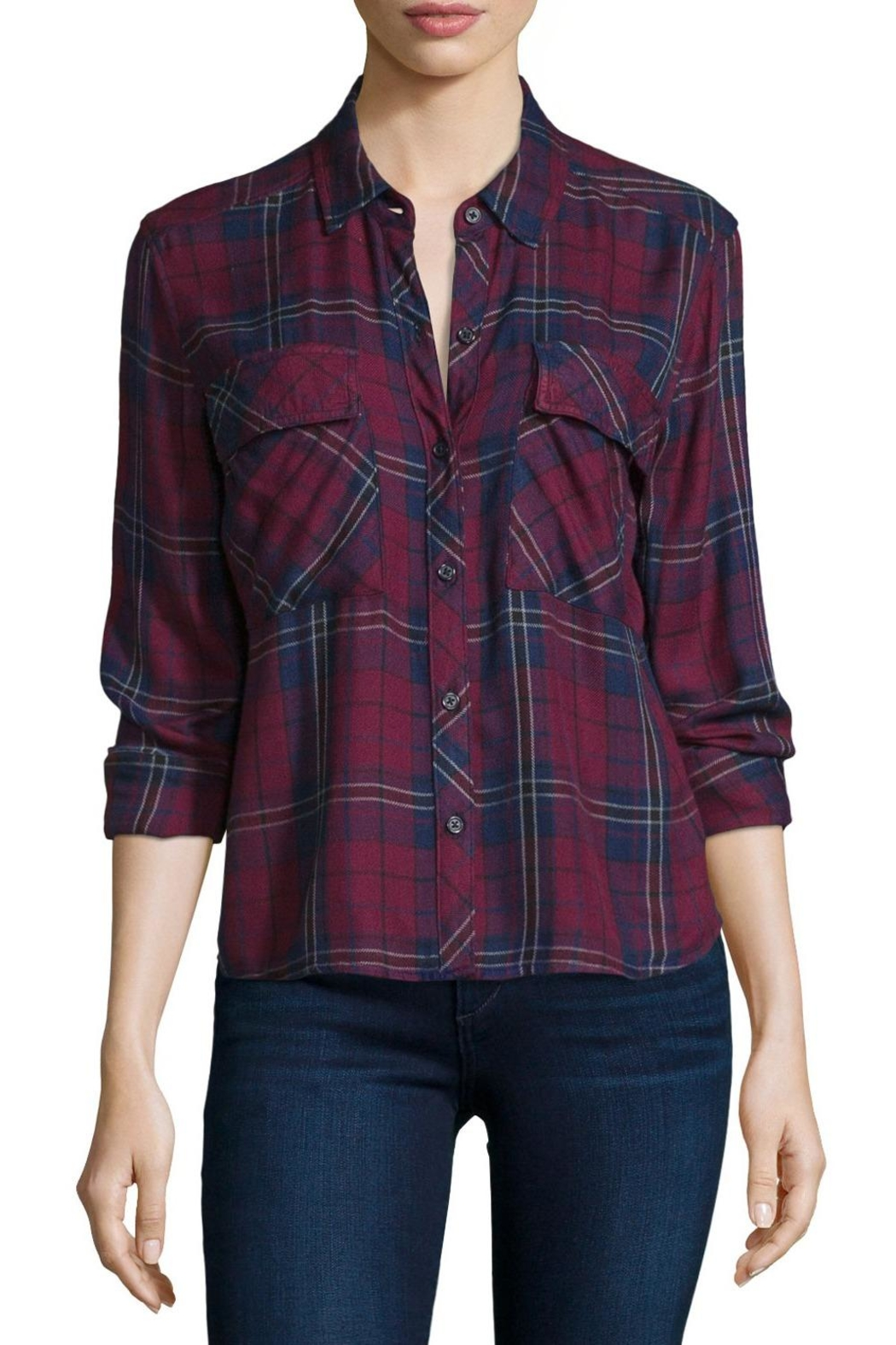 Rails Dylan Plaid Top - Side Cropped Image