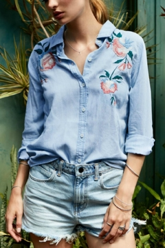 Shoptiques Product: Embroirdered Denim Shirt