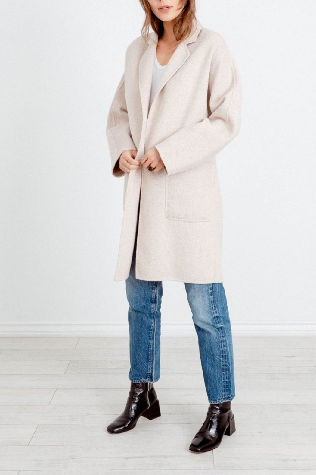 Rails Everest Oatmeal Trench - Front Full Image