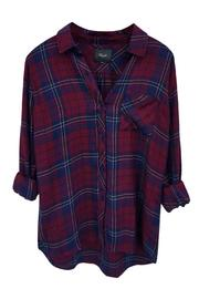 Rails Hunter Oxblood Button Down - Product Mini Image