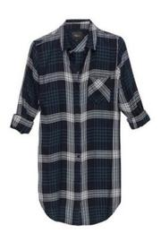 Rails Indigo Emerald Shirtdress - Product Mini Image