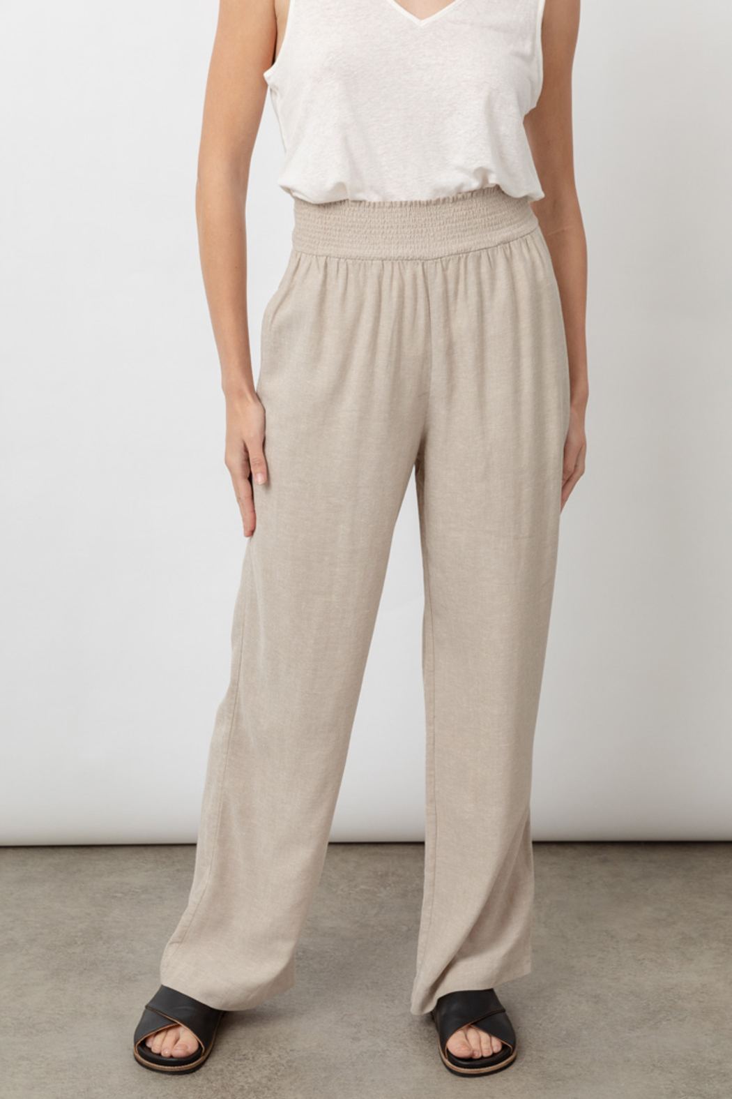 Rails Clothing RAILS LIGHTWEIGHT LINEN PANT - Side Cropped Image