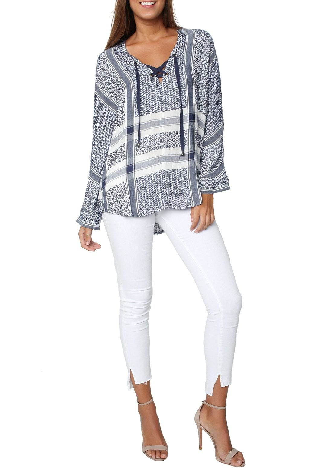 Rails Lily Jacquard Top - Front Full Image