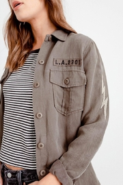 Rails Loren Olive/lightening/bolts Shirt/jacket - Product Mini Image