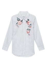 Rails Striped Floral Shirt - Front cropped