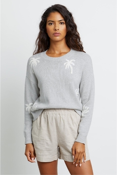 Rails Perci Sweater Heather Grey Palms - Alternate List Image