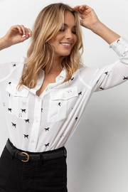 Rails Horses Blouse - Front cropped