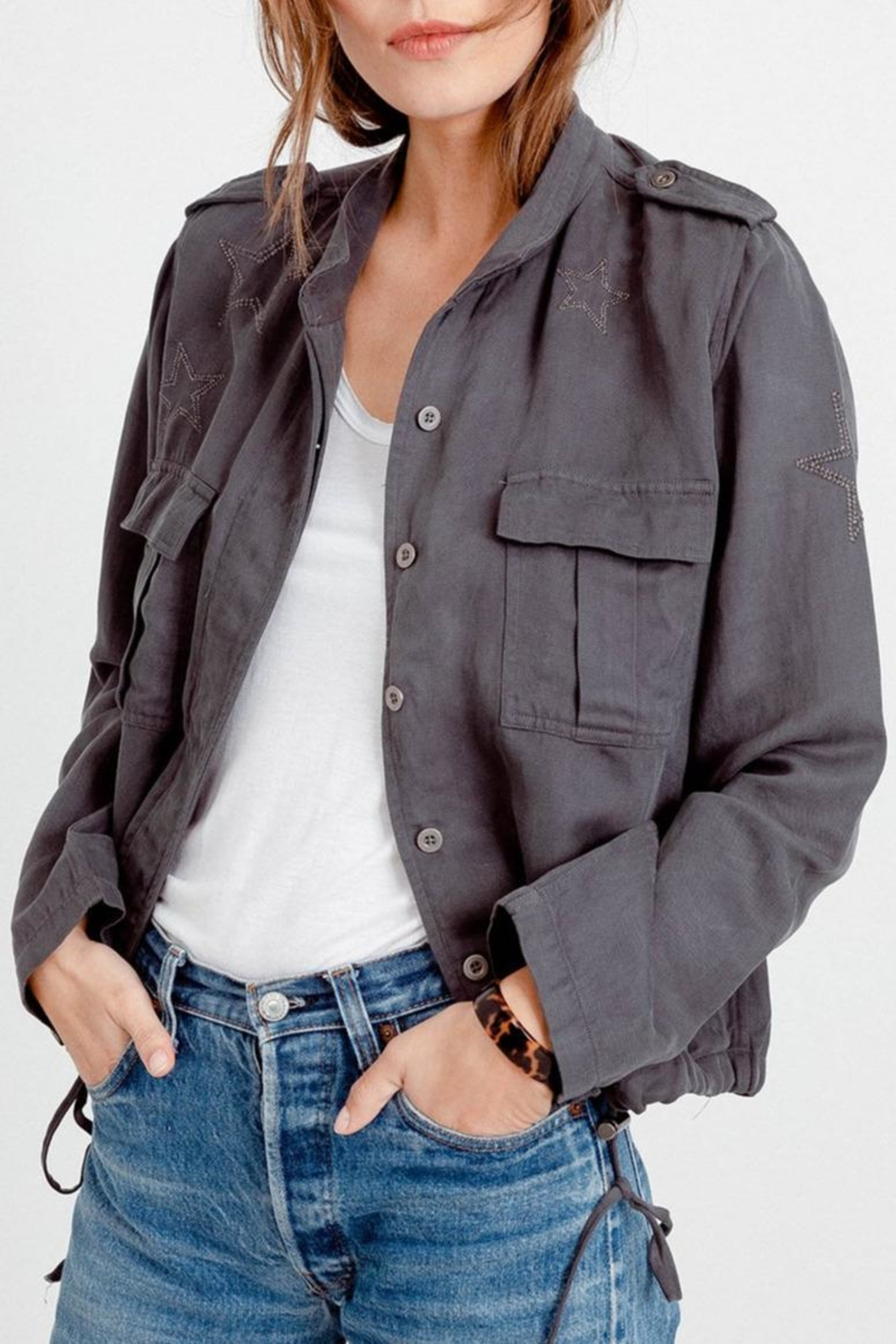 Rails Rowen Linen Jacket - Front Cropped Image