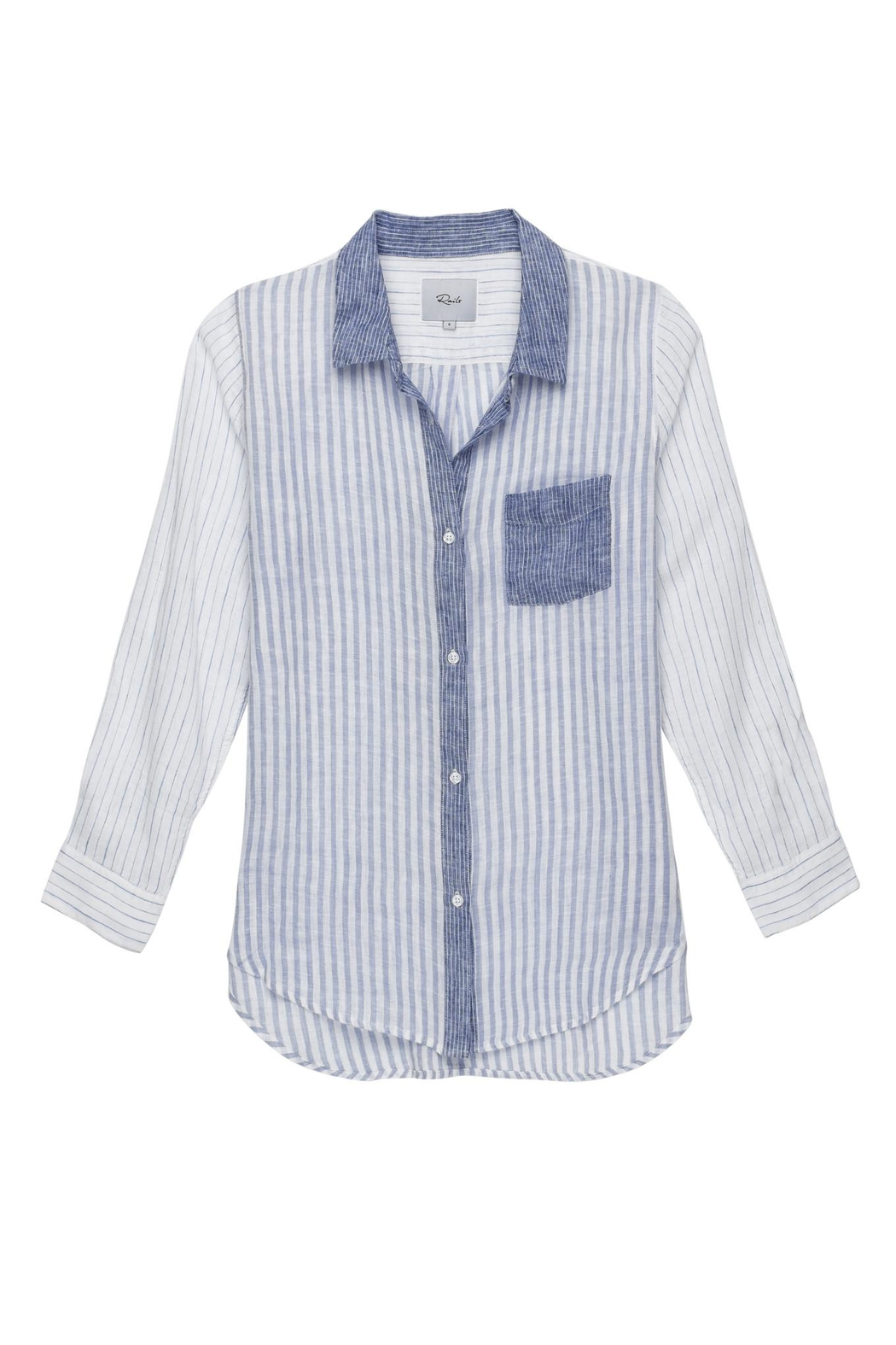 Rails Stripe Shirt - Front Cropped Image