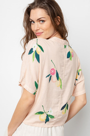 Rails Clothing RAILS TIE FRONT FLORAL TOP - Back cropped