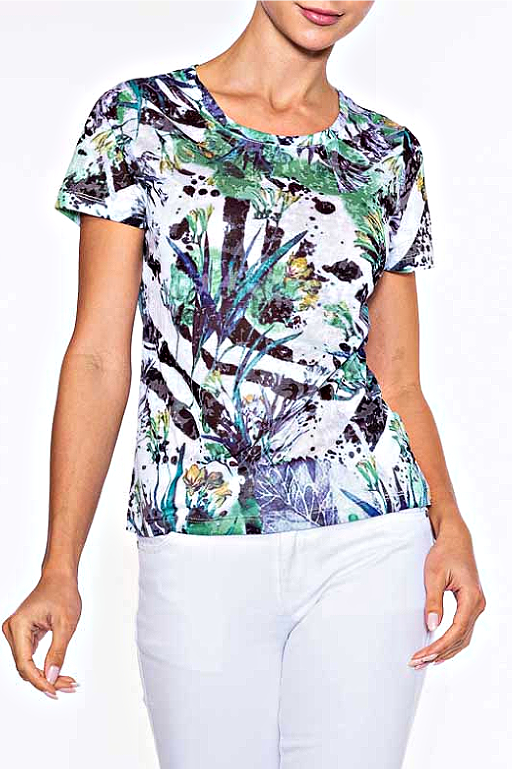 Alison Sheri  Rain Forest Tee - Front Cropped Image