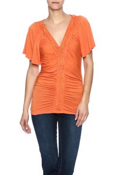 Rain Orange Drapey Top - Product List Image
