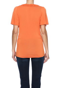 Shoptiques Product: Orange Drapey Top