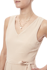 Rain Pearl Drop Necklace - Back cropped