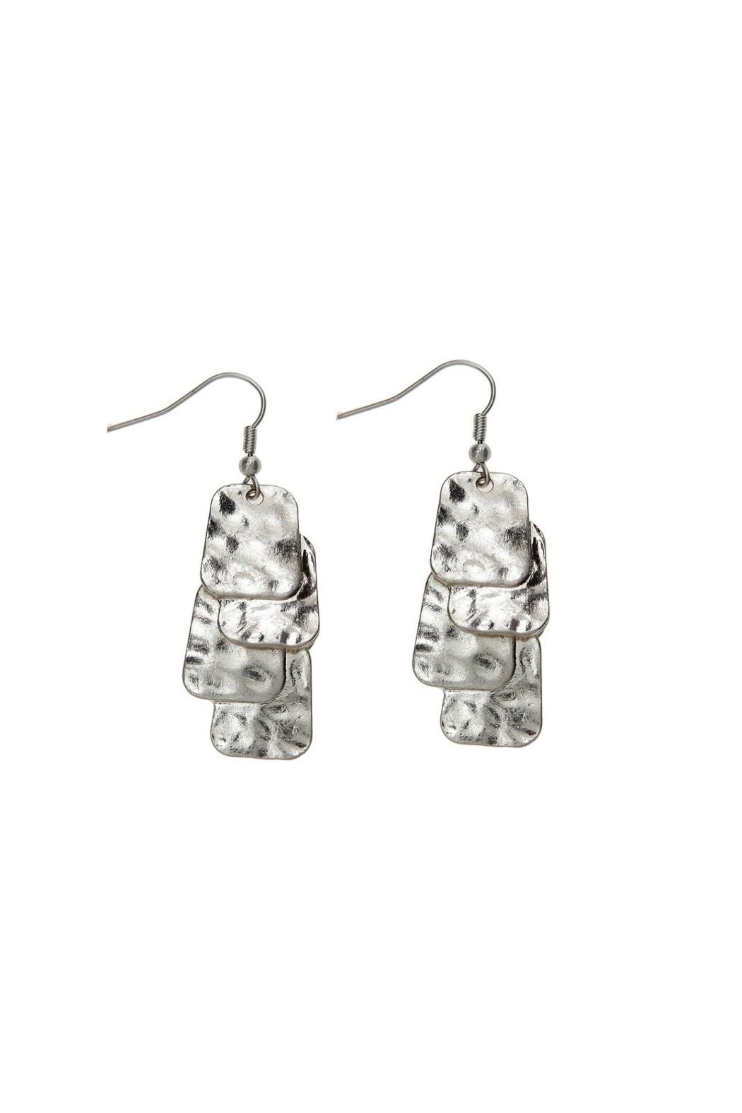 Rain Jewelry Dangle Square Earrings - Front Cropped Image