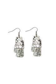 Rain Jewelry Dangle Square Earrings - Front cropped