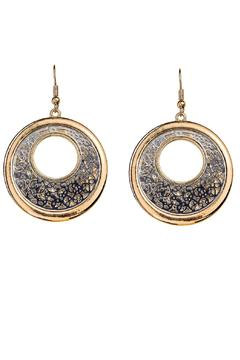 Shoptiques Product: Filigree Overlay Earrings