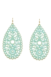 Rain Jewelry Filigree Teardrop Earrings - Product Mini Image