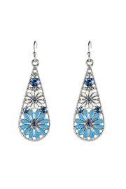 Rain Jewelry Flower Teardrop Earrings - Product Mini Image