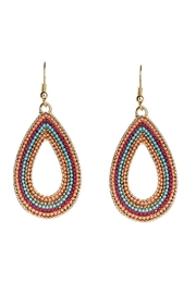 Rain Jewelry Gold Beaded Earrings - Front cropped