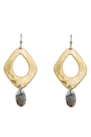 Rain Jewelry Gold Hammered Earrings - Product Mini Image