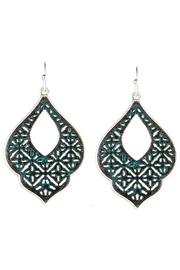 Rain Jewelry Patina Filigree Earrings - Product Mini Image