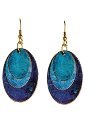 Rain Jewelry Patina Ovals Earrings - Front cropped