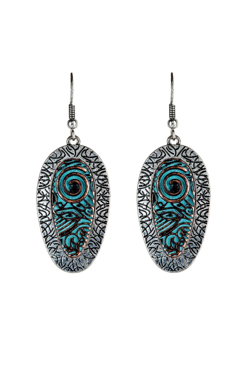 Rain Jewelry Peacock Earrings - Front Cropped Image