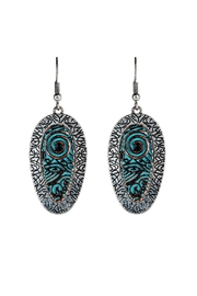 Rain Jewelry Peacock Earrings - Front cropped