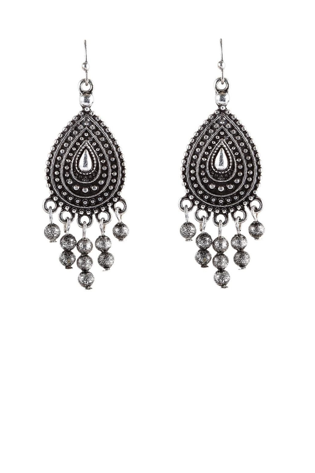 Rain Jewelry Silver Bali Earrings - Front Cropped Image