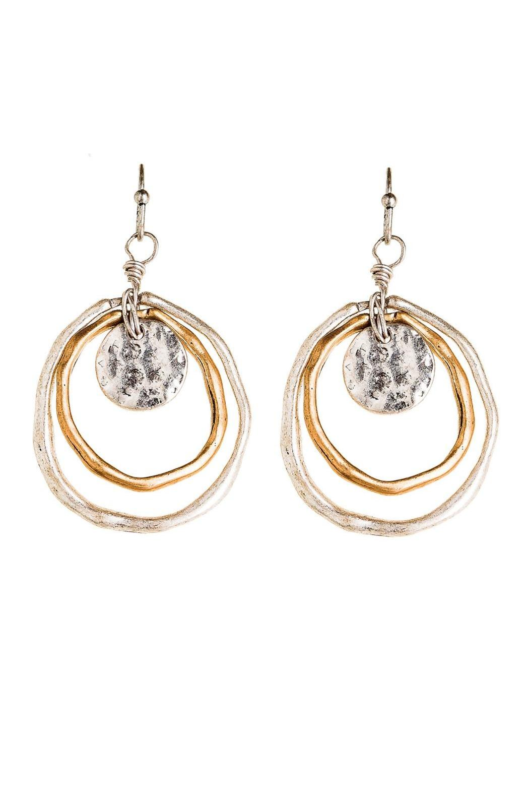 Rain Jewelry Two Tone Circle Earrings - Main Image