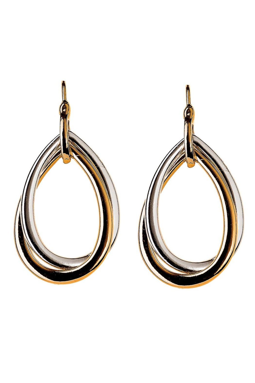 Rain Jewelry Two-Tone Twist Earrings - Front Cropped Image