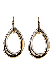 Rain Jewelry Two-Tone Twist Earrings - Front cropped