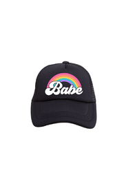 Tiny Trucker Rainbow Babe Trucker Hat - Product Mini Image