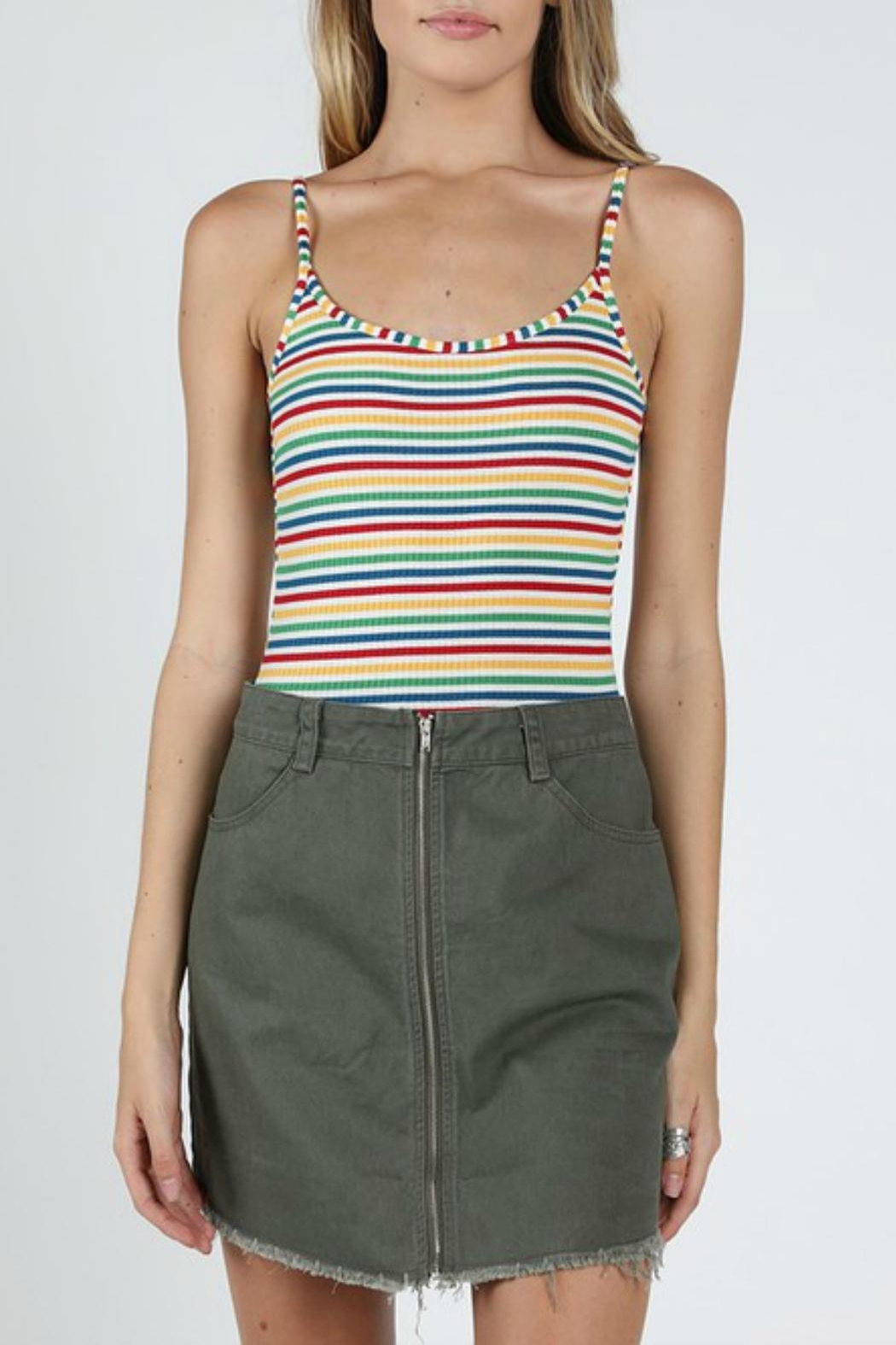 Pretty Little Things Rainbow Backless Bodysuit - Main Image