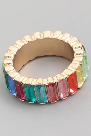 Runway & Rose Rainbow Baguette Ring - Product Mini Image
