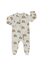 Emerson & Friends Rainbow Bamboo Baby Footie - Product Mini Image