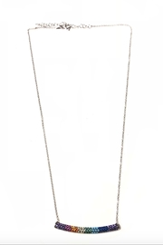 Lets Accessorize Rainbow Bar Necklace - Product Mini Image