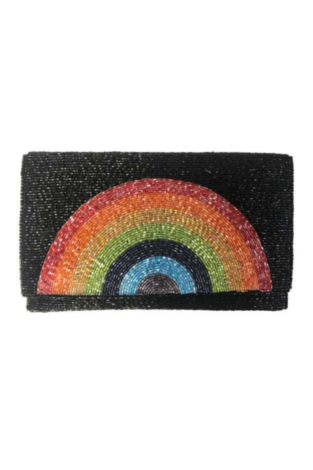 Ricki Designs Rainbow Beaded Clutch - Front Cropped Image