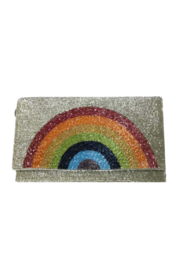 Ricki Designs Rainbow Beaded Clutch - Front cropped