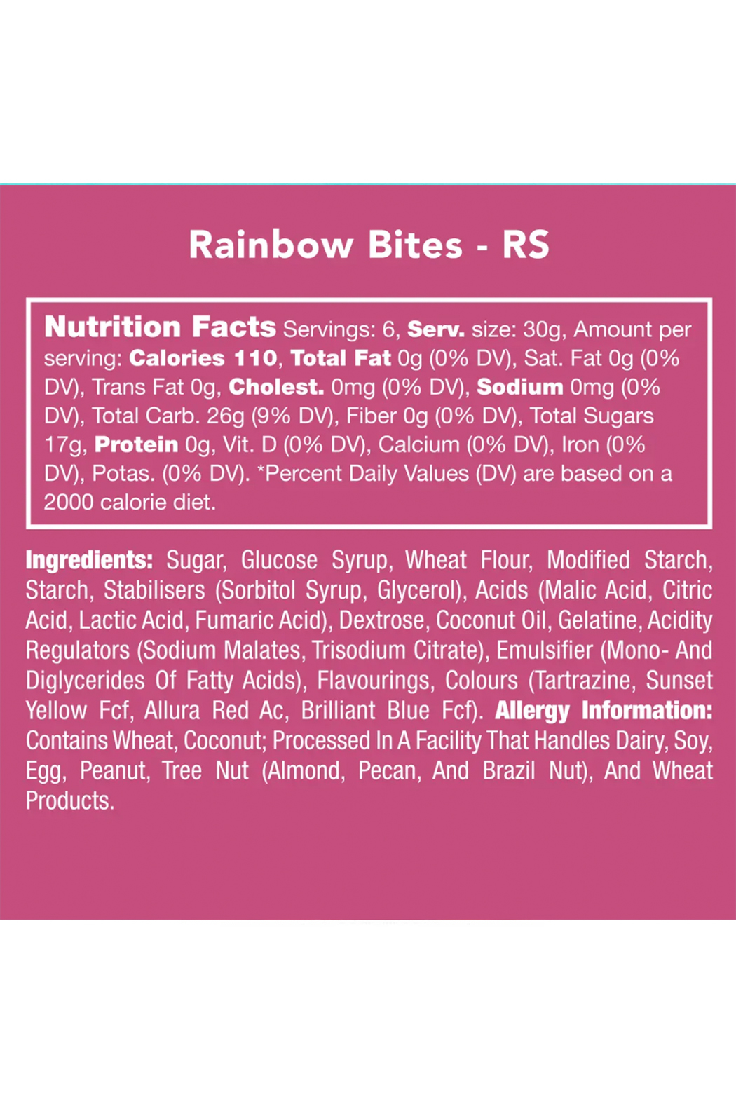 Candy Club Rainbow Bites - Side Cropped Image