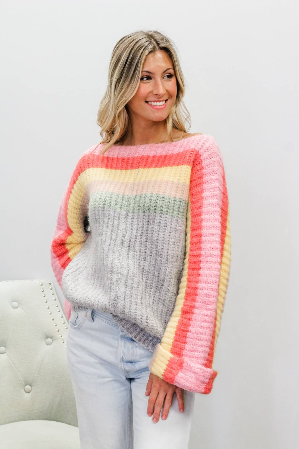 POL  Rainbow Cake Sweater - Main Image