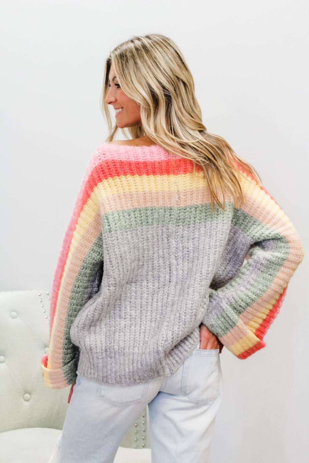 POL  Rainbow Cake Sweater - Front Full Image