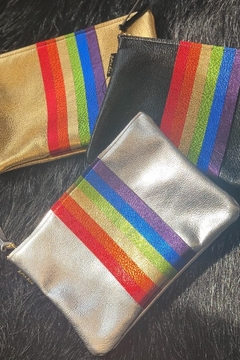 Zina Kao Rainbow Carter Leather Bag - Product List Image