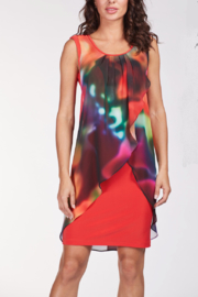 Frank Lyman Rainbow Chiffon Overlay Dress - Product Mini Image