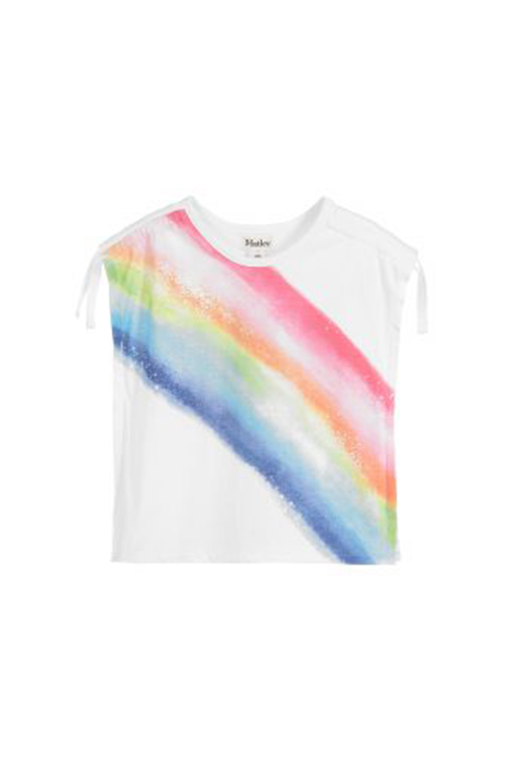 Haltey Rainbow Cinched Shoulder Tee - Front Cropped Image